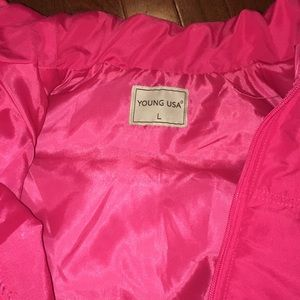 Young USA Jackets & Coats - Pink puffer vest